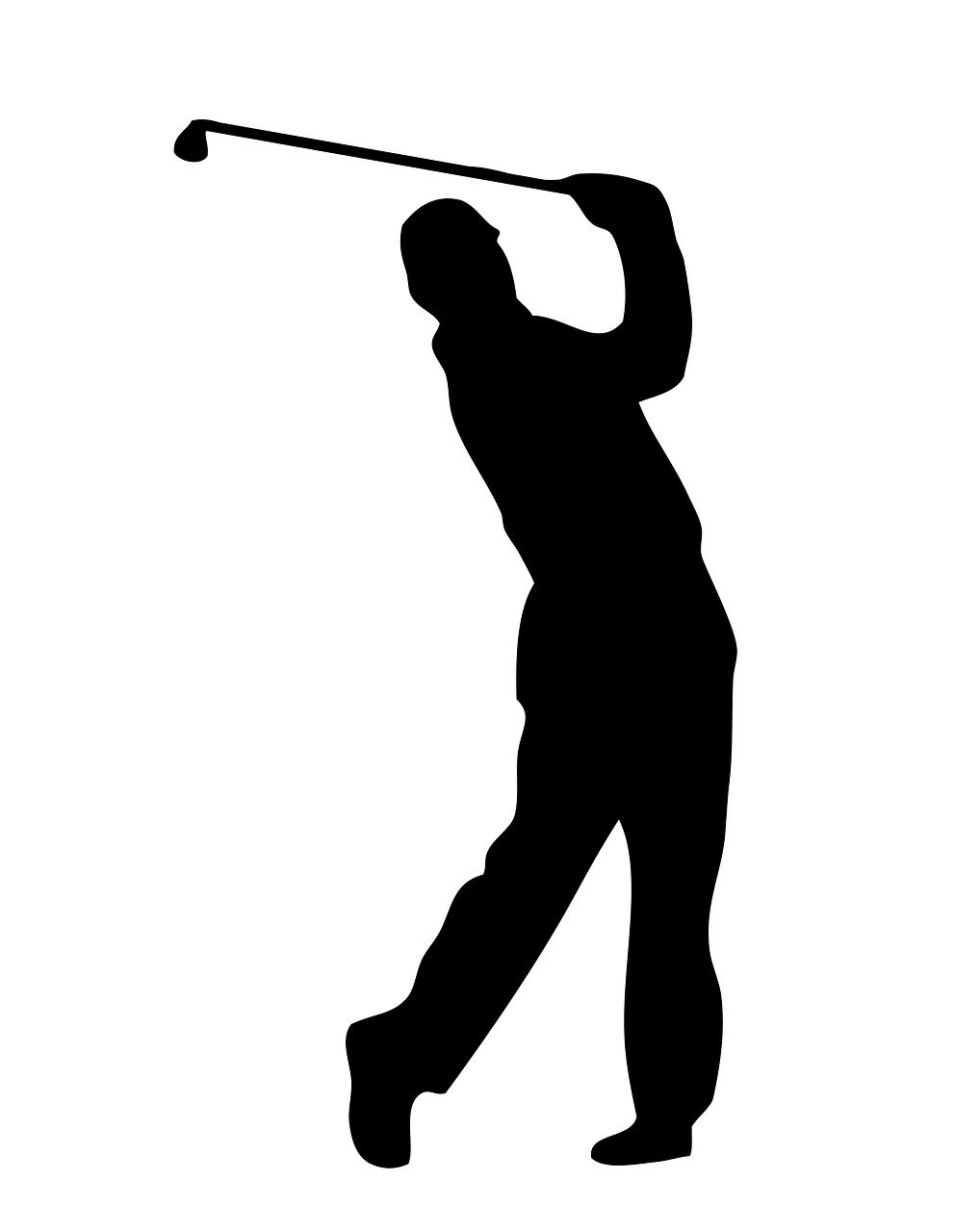 golfer outline